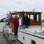 Im Hafen von Boxmeer treffen wir Will van Sambeek mit ihrer Tochter Ingrid. Nach ihr ist die gleichnamige Schleuse benannt