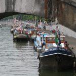 Jahrestreffen der Dutch Barge Association in Namur (Belgien)