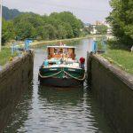 Schleuse im Canal de la Marne au Rhin