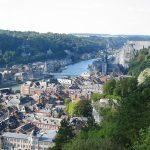 Blick von der Festung auf Dinant und die belgische Maas