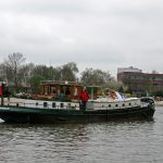 Rückwärts-Manöver in die Hafeneinfahrt von Gorinchem