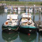 Mit M.S. Reserve V im Fischerhafen von Burghsluis (Zeeland)
