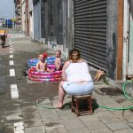 Sommeridyll in den Docks von Antwerpen