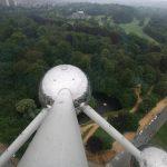 Blick aus dem Atomium in Brüssel