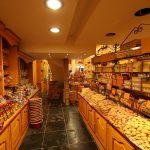 Praliné-Geschäft in der Schoggi-Meile der Brüsseler Altstadt
