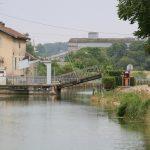 Hebebrücke am Canal de la Marne à la Saône