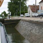 Die berüchtigten Schrägwandschleusen der Yonne
