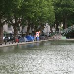 Clochards am Canal Saint-Martin