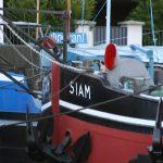 Bewohnte ehemalige Frachtschiffe in Paris