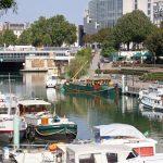 Port de Plaisance Paris-Arsenal in Sichtweite der Place de la Bastille