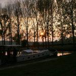 Abendstimmung im Bassin von Artaix am Canal de Roanne à Digoin