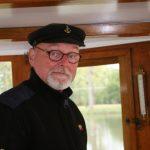 Ton Wilhelm, Kapitän der M.S. Vrouwe Dirkje als Gast auf M.S. Kinette
