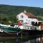 Auf der Fahrt zu den Schleusentreppen des Canal de Bourgogne