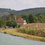 Ein typisches Schleusenwärterhaus auf der Saône-Seite des Canal de Bourgogne