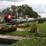 Die Schleuse Nr. 62 des Canal de Bourgogne (Saône-Seite)