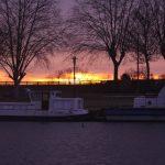 Sunrise in Roanne harbor