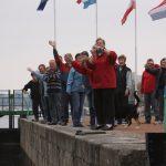 The harbor community says goodbye