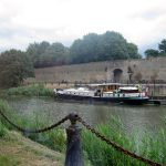 Mooring in Bergues – it's July, high season and we are alone!