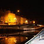 Portus Ganda in Gent by night