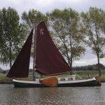 Traditional Dutch Tjalk (Merwedekanaal)