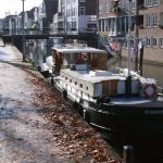 Winter mooring in the center of the town