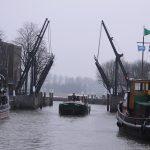 Einlaufen in den Wolwevershaven in Dordrecht