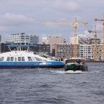 Auf der IJ in Amsterdam