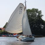 Plattboden-Segelschiff in Friesland