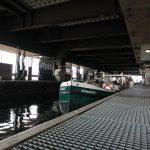 Im Schiffslift von Strépy-Thieu (Belgien)