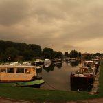 Das Hafenbecken von Erquelinnes (Belgien)