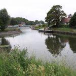Hafenbecken von Antoing (Schelde, Belgien)