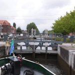 Frisch restaurierte Schleuse am Canal de Roubaix (Nordfrankreich)