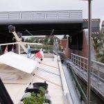 Moderne hydraulische Hebebrücke (Canal de Roubaix)
