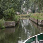 Kein Witz: Das ist die Einfahrt in den Canal de l'Espierre!