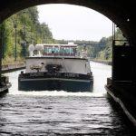 Ausfahrt aus dem Tunnel von Ruyolcourt (Canal du Nord)