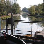 Schleuse und Kanalbrücke am Canal de Roanne à Digoin