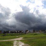 Gewitterwolken über dem Bec d'Allier