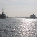 Im Hafen von Antwerpen