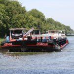 Die MS XENA auf dem Mittellandkanal