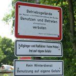 Schilderwald bei Hörstel am Dortmund-Ems-Kanal (D)