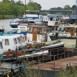Im Hafen der SET Werft in Genthin (D)