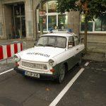 Vor dem Trabbi-Museum in Berlin