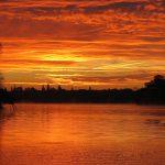 Morgendämmerung über dem Teupitzer See