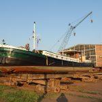 Auf der Werft in Genthin (D)