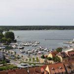 Stadthafen Waren vom Kirchturm aus gesehen