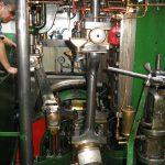 Die Maschine des Dampfeisbrechers «Elbe»
