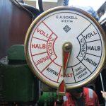 Der Maschinentelegraph des Dampfeisbrechers «Elbe»