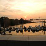 Sonnenaufgang beim Zollenspieker an der Elbe