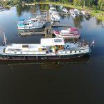 Der Yachthafen Fürstenberg aus der Drohnenperspektive