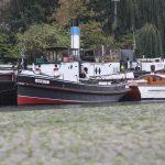 Der Historische Hafen Berlin hinter der Mühlendammschleuse